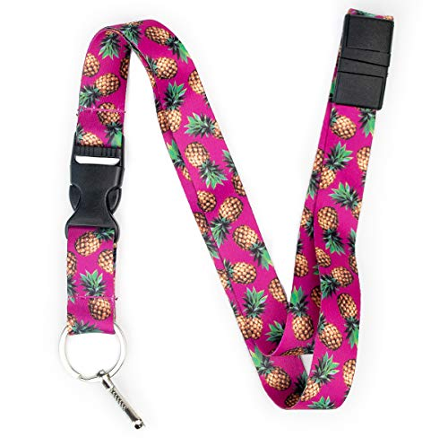 Pineapple Lanyard with Breakaway Clasp and Snap Buckle, by Limeloot.