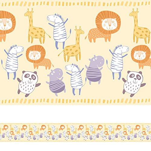 Faixa Decorativa Adesiva Infantil Animais 6mx15cm