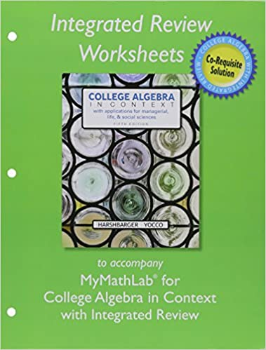 MyMathLab with Pearson eText plus Worksheets for College Algebra ...