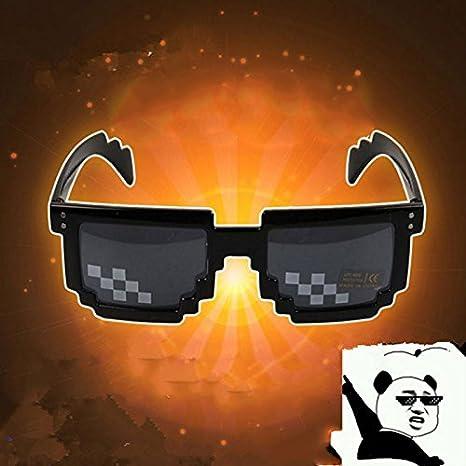 5e7a3174adf Amazon.com  Fdrirect Mosaic Pixel Code Novelty Resolution Pixelated Pixel  Sunglasses Cosplay Cartoon  Beauty