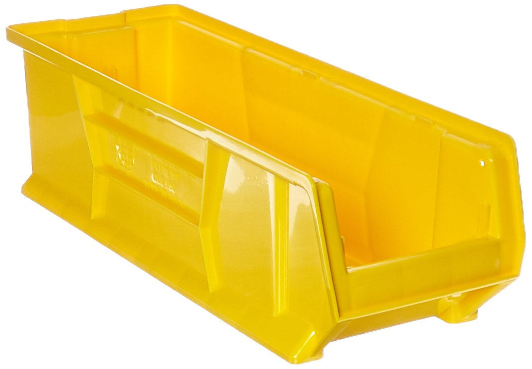 Quantum QUS950 Plastic Storage Stacking Hulk Container, 24-Inch by 8-Inch by 7-Inch, Yellow, Case of 6 by Quantum Storage Systems B00208SZ2A イエロー