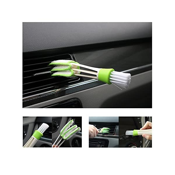 SUBANG 11 Pieces Car Cleaner Brush SetIncluding Natural Boar Hair Detail Brush Set Of 6 Auto Detailing Brush Set For Cleaning Weels Interior Exterior Leather And 2 Pcs Automotive Air Conditione
