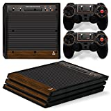 old atari controller - ZoomHit Ps4 PRO Playstation 4 Console Skin Decal Sticker Old Retro + 2 Controller Skins Set
