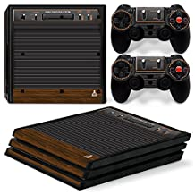 Ps4 Pro Playstation 4 Console Skin Decal Sticker Atari Old Retro + 2 Controller Skins Set