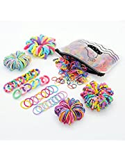 Manshui 1900 Pcs Baby Hair Ties, Small Seamless Elastic Toddler Hair Bands for Girls and Children, Multicoloured Rubber Ponytail Holders Hair Accessories