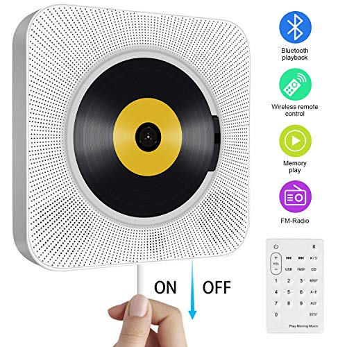 - New Wall Mountable CD Player Portable Home Audio Speaker Prenatal Education Early Education English Use Bluetooth Speaker