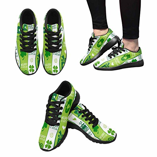 Interestprint Femmes Jogging Running Sneaker Léger Aller Facile À Pied Confort Sportif Chaussures De Course St.patricks Jour Fond Multi 1