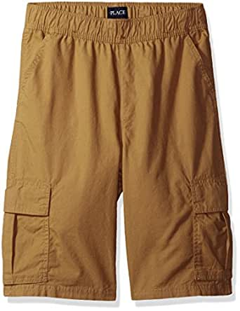 The Children's Place Boys Slim Size Pull-on Cargo Shorts, Flax, 4