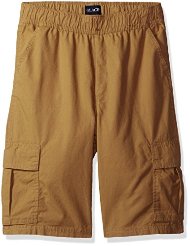 The Children's Place Big Boys' His Pull-on Cargo Shorts, Flax, 16 by The Children's Place