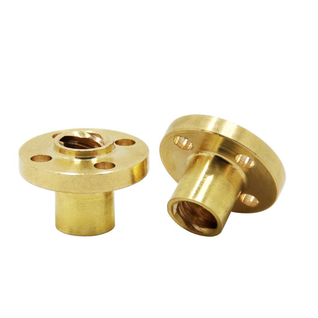 Copper Nut for 3D Printer Accessory T8 8mm Lead Screw Screwnut Pitch 2mm