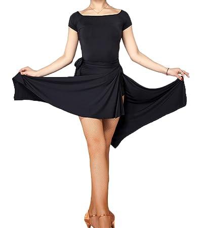 022c9503a Amazon.com : ModLatBal Women's Latin Dance Skirt Skate Wrap Scarf Tango  Dancewear Swing Rumba Dancing Costume : Sports & Outdoors