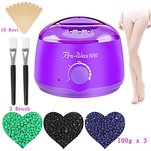 Hair Removal Wax Warmer Electric Plug In Wax Kit Facial Body Armpit Wax Heater Melting Pot Spa Waxing Accessories Depilatory Machine With Wax Beads For Girls Women and Men