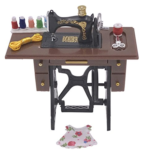 (Unbranded Dollhouse Old Fashion Sewing Machine 1:12 Scale)