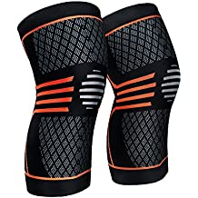 ZetHot Knee Compression Sleeve Support Brace(Pair Knee Brace for Running, Jogging, Sports, Joint Pain Relief, Arthritis and Injury Recovery