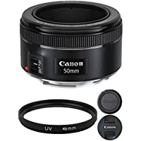 Canon EF 50mm f/1.8 STM Lens with 49mm UV Filter For Canon Digital SLR Cameras