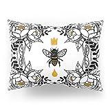 Society6 Queen Bee Pillow Sham Standard (20'' x 26'') Set of 2