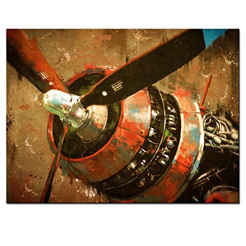 sechars Canvas Prints Wall Art,Vintage Propeller Aircraft