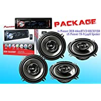PACKAGE ! Pioneer DEH-X6600BT CD-Receiver + Two Set Pioneer TS-G1344R Car Speakers - 4 Speakers