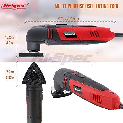 Silverline Oscillating Multi-Tool General Accessory Kit Sanding//Scraping 10 Pc