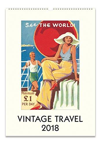 Cavallini Papers 2018 Vintage Travel Wall Calendar (Rifle Paper Calendar)