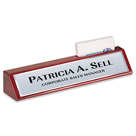 Amazon name plate rosewood with business card holder desk name name plate rosewood with business card holder desk name bar personalized custom 8 colourmoves