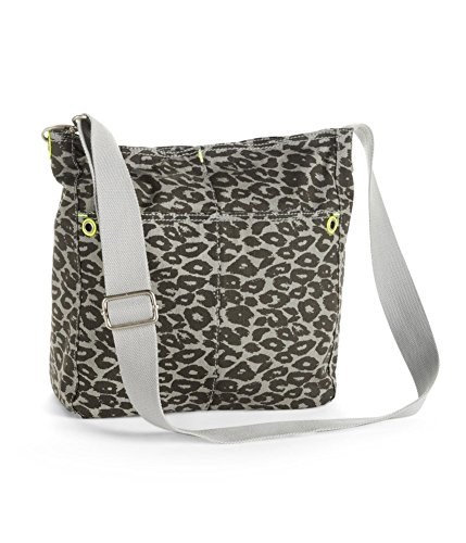 (Aeropostale Womens Animal Print Canvas Tote Handbag Purse, Grey, Extra Small (16 in. & Under))