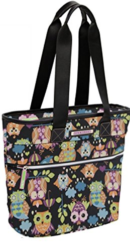 Lily Bloom Oversize Insulated Lunch Cooler/Tote with Pack-n-Go Containers (What a Hoot Black) by Lily Bloom