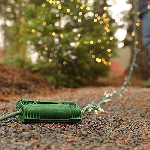 Black - Outdoor Extension Cord Protection Twist and Seal Cord Protect 2 Pack