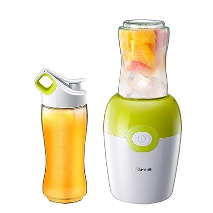 W&lx Zumo de fruta automáticos frutas y vegetal exprimidor, Taza de jugo eléctrico mini hogar