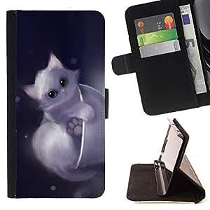 Momo Phone Case / Flip Funda de Cuero Case Cover - Gatito lindo Dibujo Animal doméstico dulce Furry - HTC Desire 820