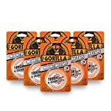 Gorilla 6065001-6 Double-Sided Tough and Clear Mounting Tape (6 Pack), 1'' x 60'', Clear