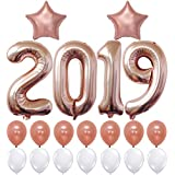 2019 Balloons, Rose Gold for New-Year | Rose Gold and White Balloon Kit | New Years Eve Party Supplies 2019 | Graduations Party Supplies 2019 | New Years Party Decorations | Graduations Decorations