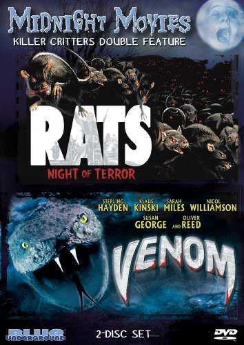 Midnight Movies Vol 10: Killer Critters Double Feature (Rats: Night of Terror/Venom) (Night Terrors Dvd)