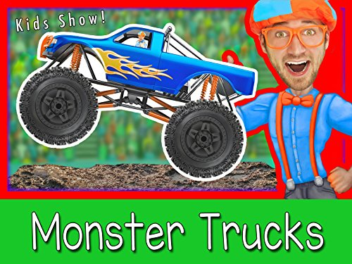 Explore A Monster Truck with Blippi - Monster Trucks for Kids (Movie Christmas Best For Toddlers)