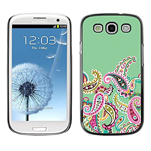 LASTONE PHONE CASE / Slim Protector Hard Shell Cover Case for Samsung Galaxy S3 I9300 / Cool Native Floral Pattern (Galaxy S3 Case Native)