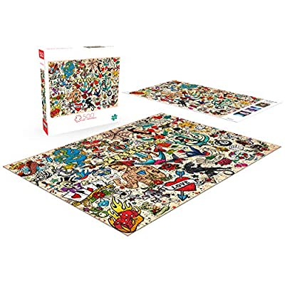 Buffalo Games - Art of Play - Tattoopalooza - 500 Piece Jigsaw Puzzle: Toys & Games