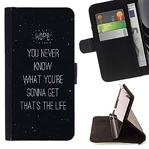 Dragon Case - FOR Sony Xperia Z2 D6502 - it is life - Caja de la carpeta del caso en folio de cuero del tir¨®n de la cubierta protectora Shell