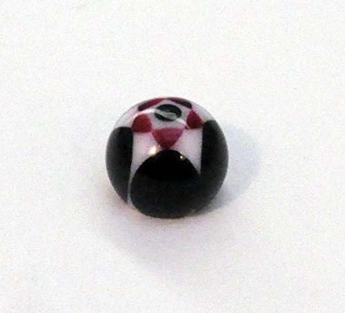 Black and Pink Star Pattern Fake Tongue Ring Holds with Suction