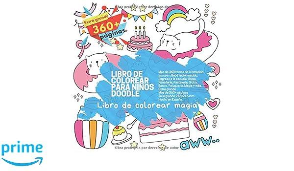 Libro de colorear para niños Doodle - Más de 360 temas de ...