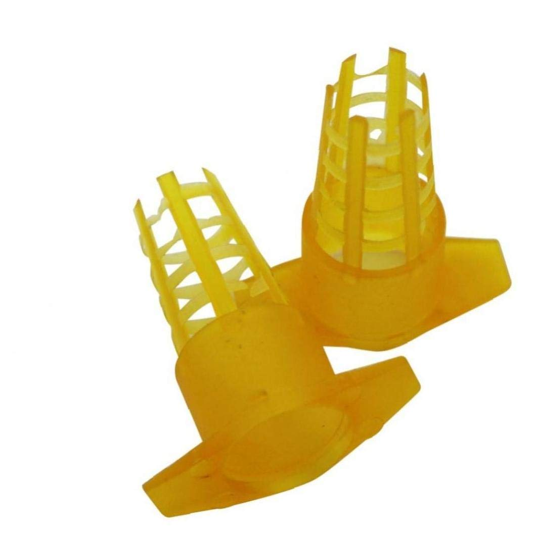 Angoter 20 PCS Plastic Bee Queen Cage Protective Cover Cell Cages Protector Bee Tools Beekeeping Equipments