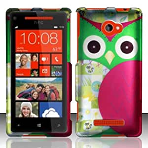 For HTC Windows Phone 8x 6990 (AT&T) Rubberized Design Cover - Owl
