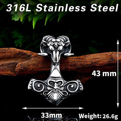 Metal Color: with Bead Chain Davitu Steel Soldier Unique Products Viking Pendant Necklace Stainless Steel Fashion Man Jewelry