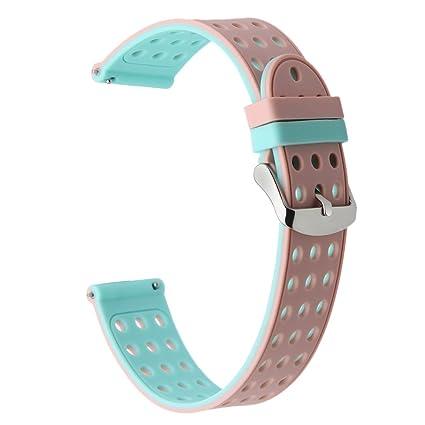 TRUMiRR 24mm Silicona Goma Banda de Reloj de Doble Lado Llevar Correa para Sony Smartwatch 2 SW2, Suunto Traverse, Otros Relojes con 24mm Lug