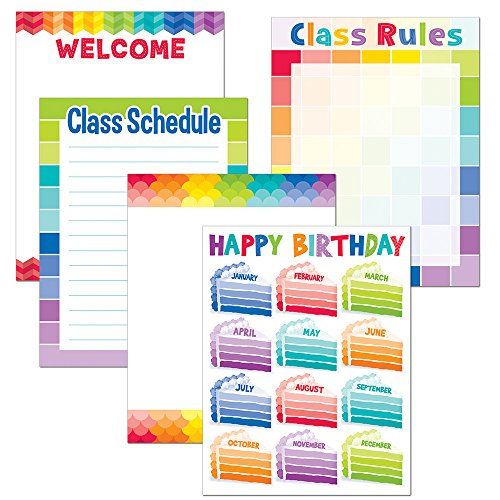 Creative Teaching Press Painted Palette Classroom Essentials Chart Pack (4710)
