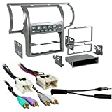 Metra 99-7604 Silver Dash Kit + Harness + Antenna Adapter for 03-04 Infiniti G35
