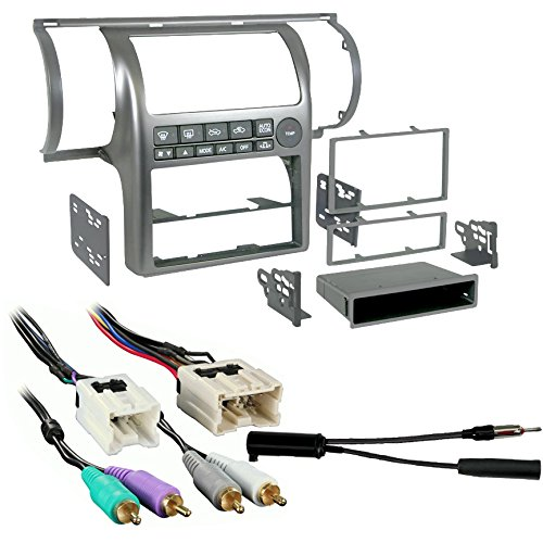 Metra 99-7604 Silver Dash Kit + Harness + Antenna Adapter for 03-04 Infiniti G35 ()