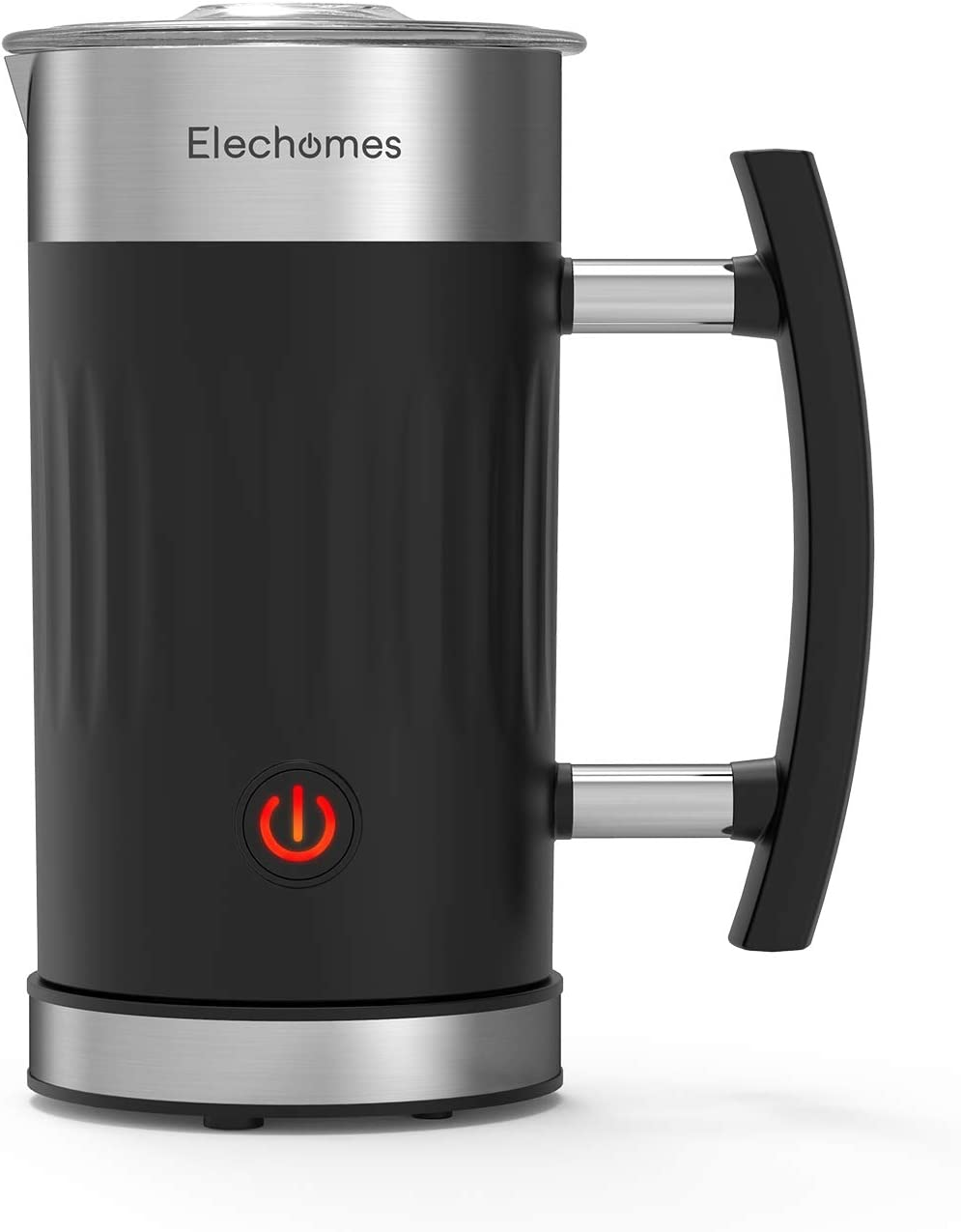Elechomes Milk Frother, 5 in 1 Electric Milk Steamer with Hot & Cold Milk Functionality, 10.1oz Foam Maker for Coffee, Hot Chocolates, Latte, and Cappuccino, Non-Stick Inner Design for Easy Clean, Fast Frothing