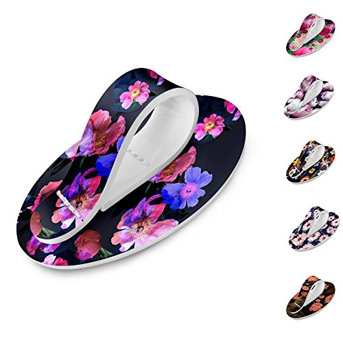 Phone Flipper Comfortable Secure Stylish Holder Grip Finger Strap for Hand Compatible with iPhone and All Tablets and Smartphones Fall Floral