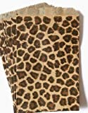 Health & Personal Care : 100 Leopard Print Paper Bags 6x9 Inches Flat Merchandise Bags