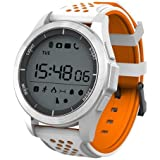 "TODO Bluetooth V4.0 Smart Watch Heart Rate Blood Oxygen Ip68 1.1"" LCD - White Orange"